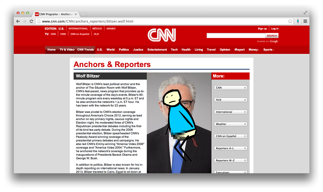 Pooping on cnn.com